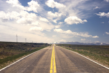 a long narrow highway