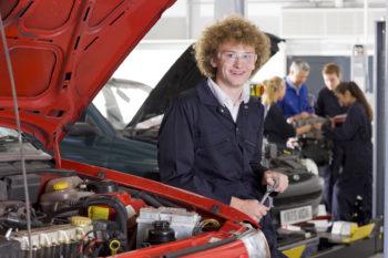 a young car mechanic