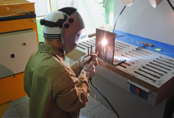 a professional machine welder